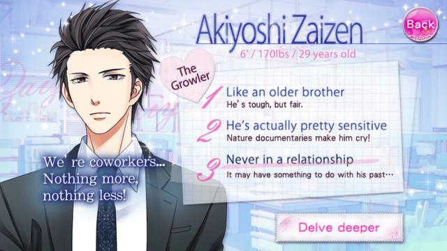OTBS Akiyoshi Zaizen S1 main story